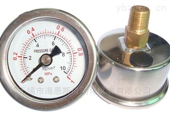 軸向不銹鋼壓力表
