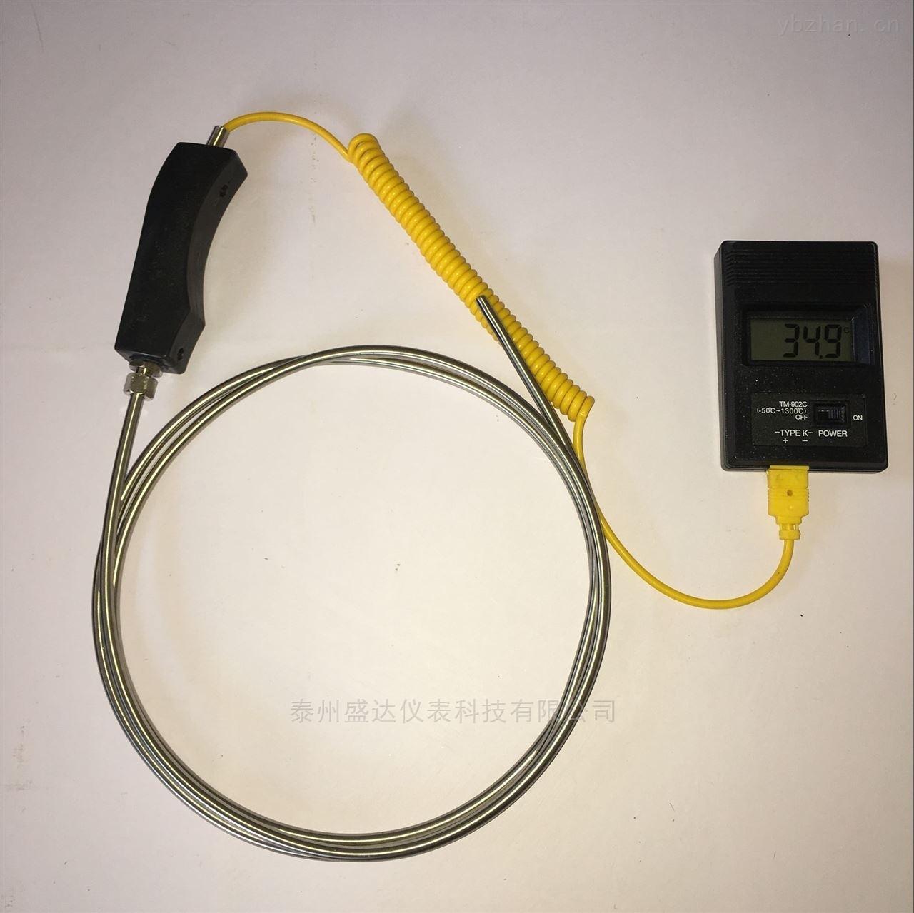 铝厂专用K型温度传感器防腐蚀大手柄铠装热电偶WRNK-104