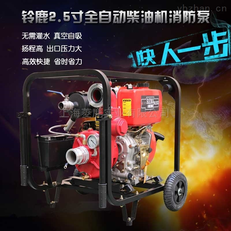 小型便携式2.5寸柴油机无水真空自吸泵