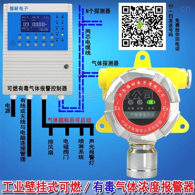 壁掛式煤氣泄漏報警器,氣體報警控制器云監控