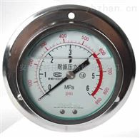 Y-100B轴向带边耐震压力表