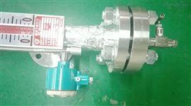 UHF-10CDH6供应 湖南河北油田装备高压10MPA磁翻板液位计配套磁效应液位变送器