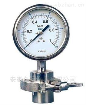 隔膜压力表Y-M卫生型