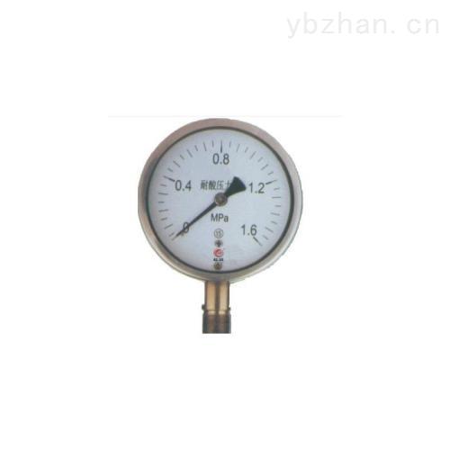 YTS-100耐酸系列壓力表