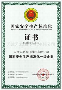 安全生产标准化一级单位