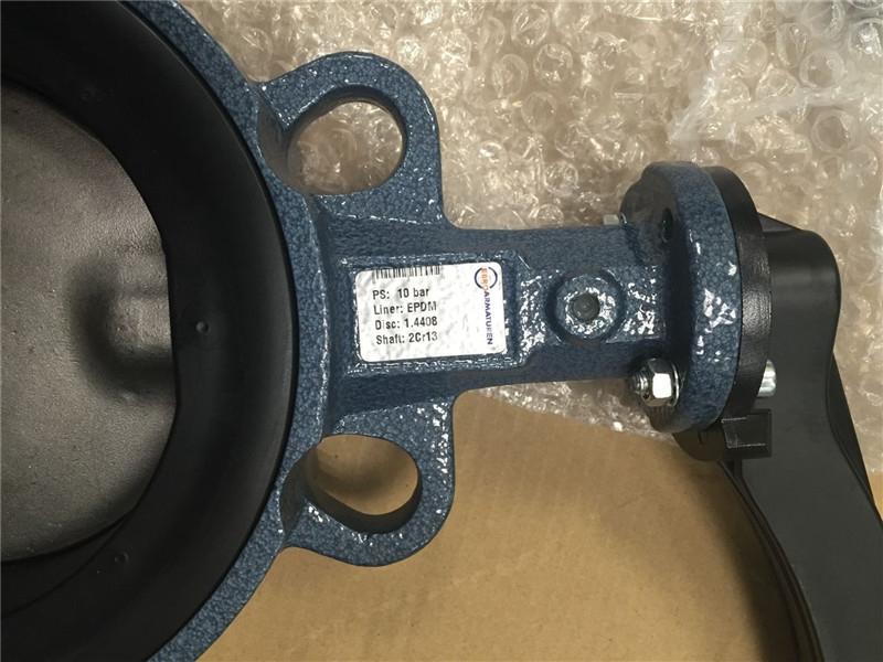 Z011-A-EBRO依博罗对夹式手动手柄式蝶阀 DN65