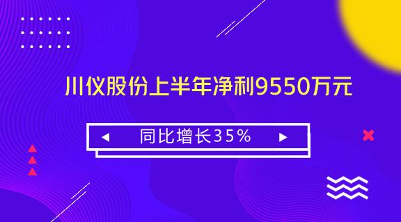 川仪股份上半年净利9550万元 同比增长35%