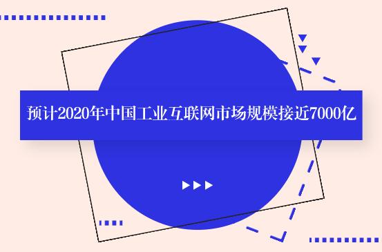 预计2020年中国工业互联网市场规模接近7000亿