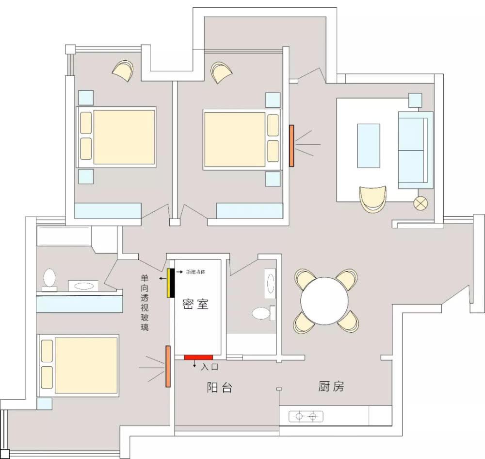密室设计图
